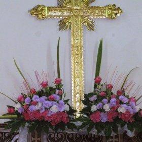 composizioni lati Croce arcobaleno fiori
